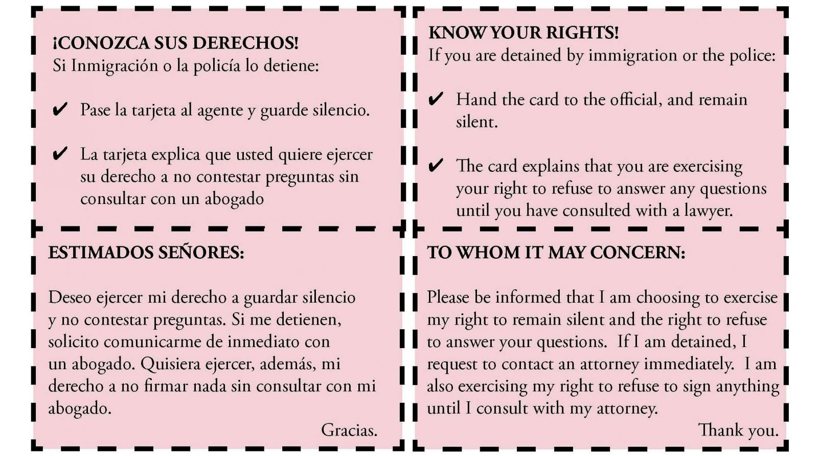 Know Your Rights-Spanish